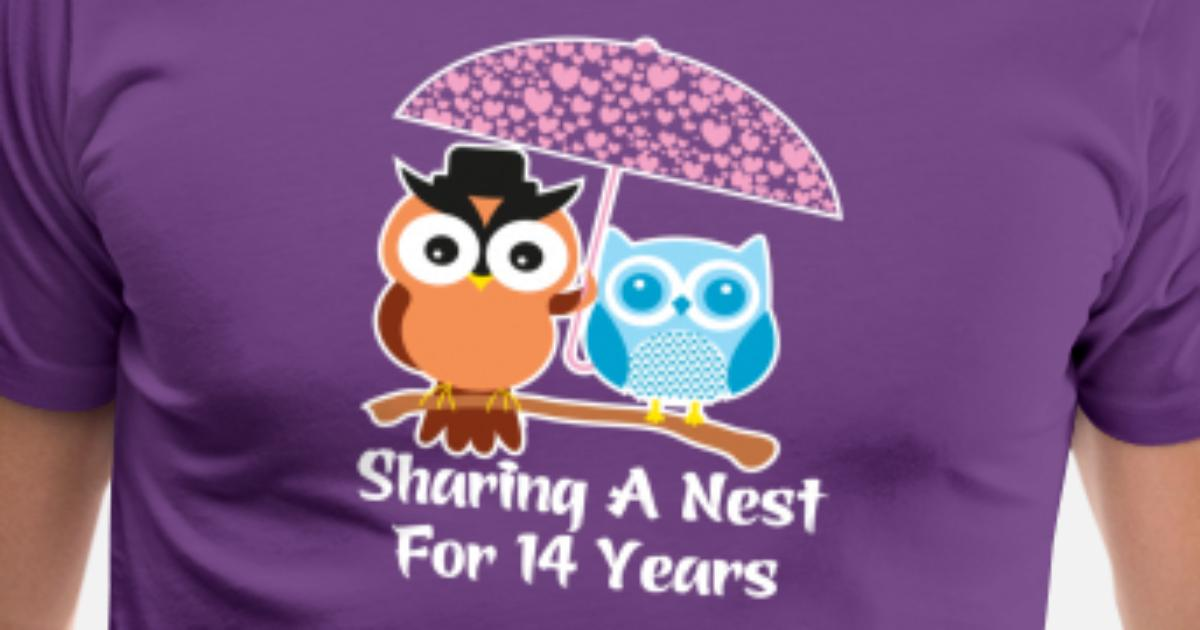 14 Years Wedding Anniversary Gifts Valentines Day Mens Premium T