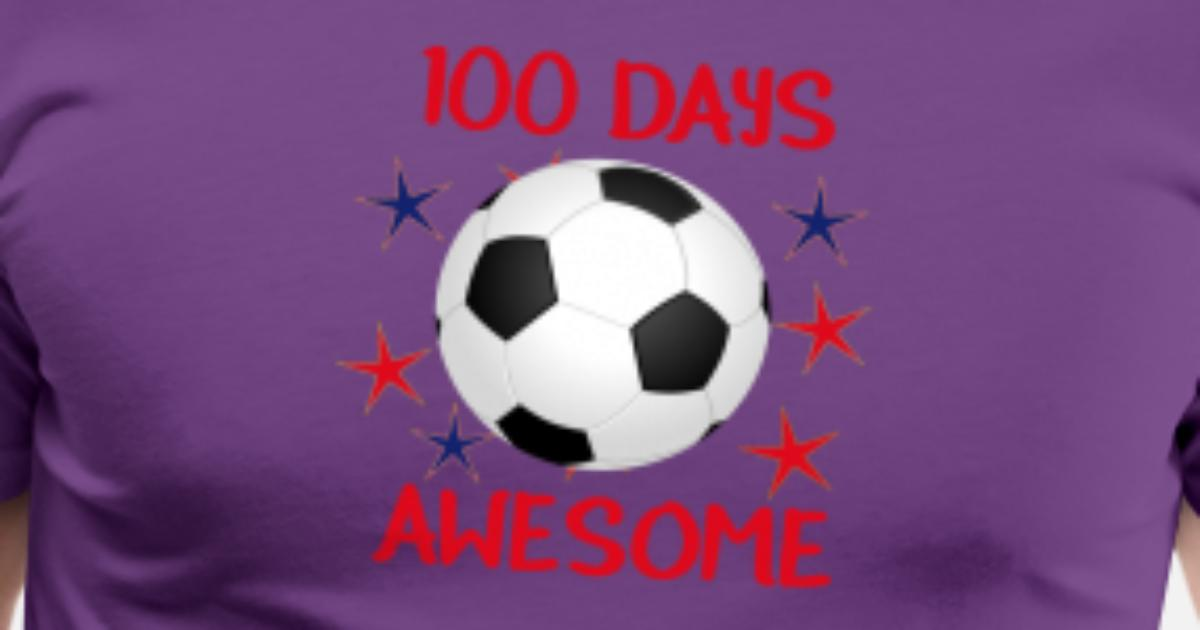 100 Days Awesome Soccer 100th Day of School Men's Premium T-Shirt | Spreadshirt