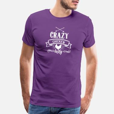 b8d32d4c Funny Cow Farm and Country Crazy Chicken Lady - Men's Premium T-Shirt