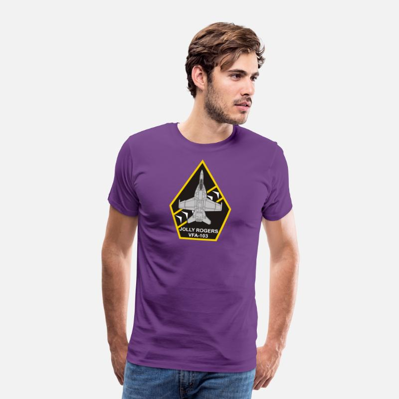 Flight T-Shirts - F/A-18 VFA-103 Jolly Rogers - Men's Premium T-Shirt purple