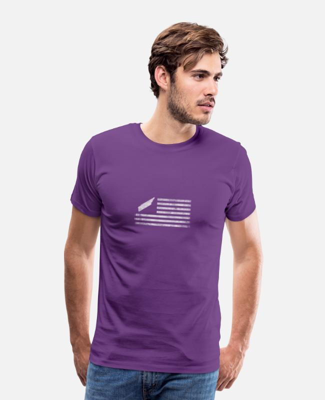 State Of Tennessee T-Shirts - Tennessee State United States Flag Vintage - Men's Premium T-Shirt purple