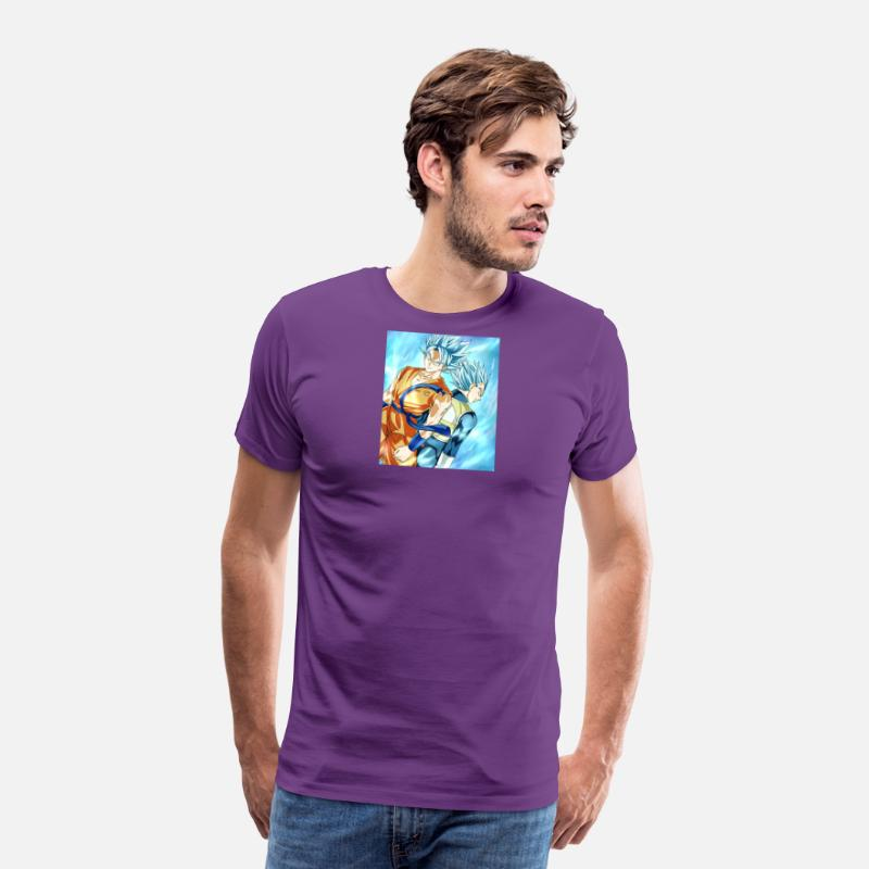 Super T-Shirts - Dragon Ball Super - Men's Premium T-Shirt purple