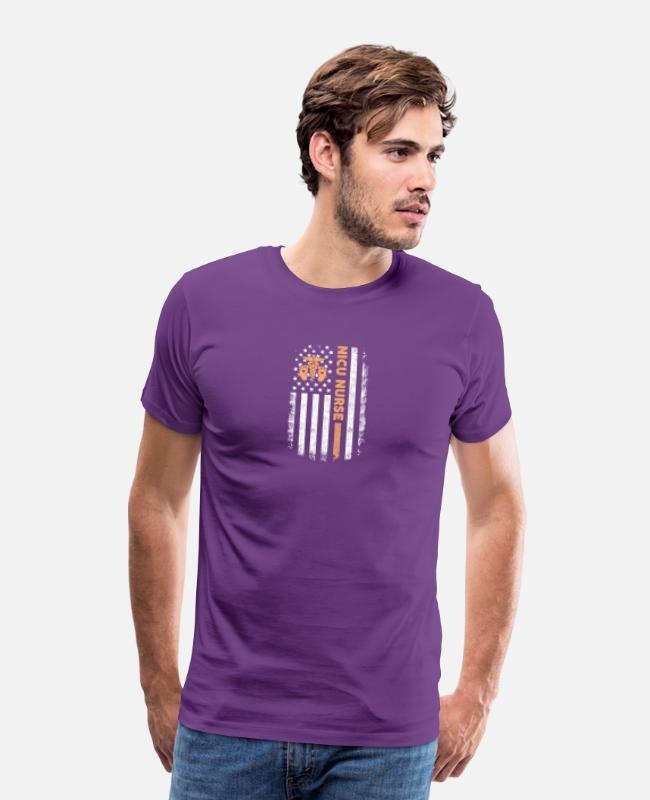 T-Shirts - Proud Nicu Nurse T Shirt - Men's Premium T-Shirt purple