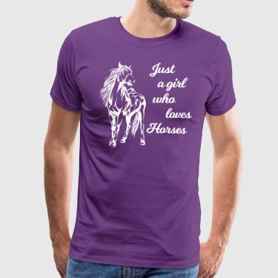 Horse fur rider hooves riding pony farm wit humor - Men's Premium T-Shirt