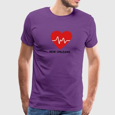 Heart New Orleans - Men's Premium T-Shirt