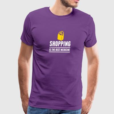 Shopping Is The Best Medicine! - Men's Premium T-Shirt