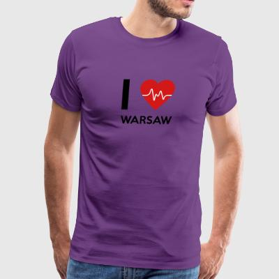 I Love Warsaw - Men's Premium T-Shirt