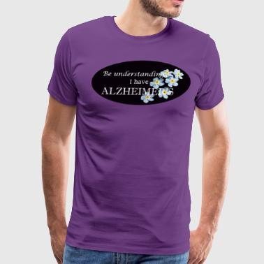 Alzheimer's logo with flower - Men's Premium T-Shirt