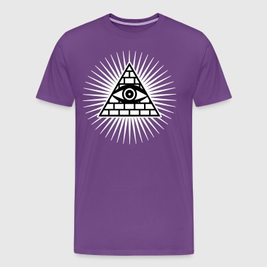 01 eye of god all seeing eye of Horus - Men's Premium T-Shirt