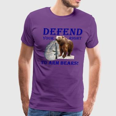 Defend Your Right to Arm Bears - Men's Premium T-Shirt