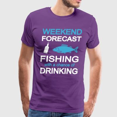 Fishing with a chance of drinking T Shirt - Men's Premium T-Shirt