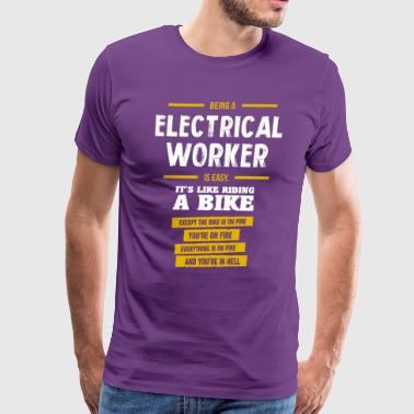 Electrical worker - Men's Premium T-Shirt
