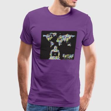 NomadButNomad working world wide - Men's Premium T-Shirt