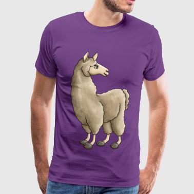 Llama Drama - Version 2 - Men's Premium T-Shirt