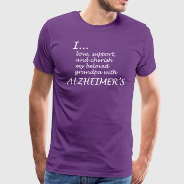 I... love my grandpa with Alzheimers-White letters - Men's Premium T-Shirt
