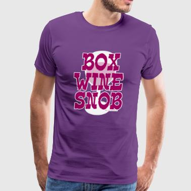 Box Wine Snob - Men's Premium T-Shirt