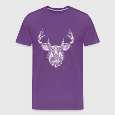 Art Deer - Vintage Look - Men's Premium T-Shirt