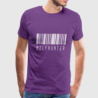 MILFHUNTER BARCODE WHITE - Men's Premium T-Shirt