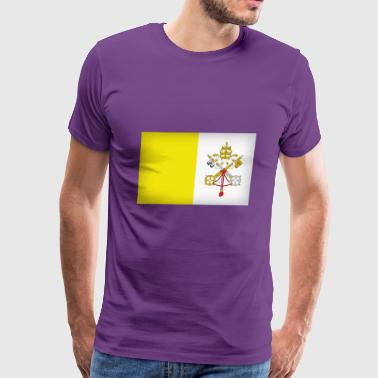 vatican city flag - Men's Premium T-Shirt