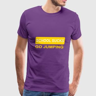 2541614 14038981 jumping - Men's Premium T-Shirt