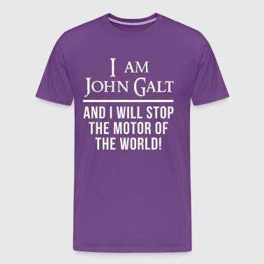 Atlas Shrugged John Galt Motor of the World - Men's Premium T-Shirt