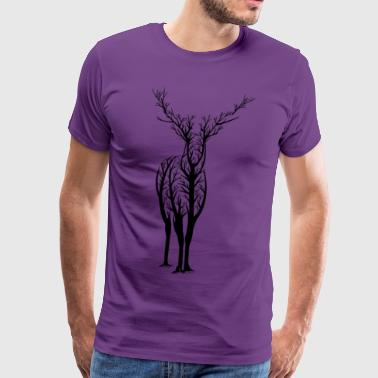 Deer Tree - Men's Premium T-Shirt