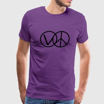 Veganism Is Peace - Men's Premium T-Shirt