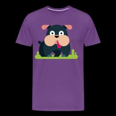 dog comic kids children baby - Men's Premium T-Shirt