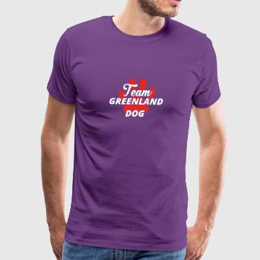 Hund hunde Team verein frauchen greenland dog - Men's Premium T-Shirt