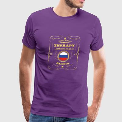DON T NEED THERAPIE GO TO RUSSIA - Men's Premium T-Shirt