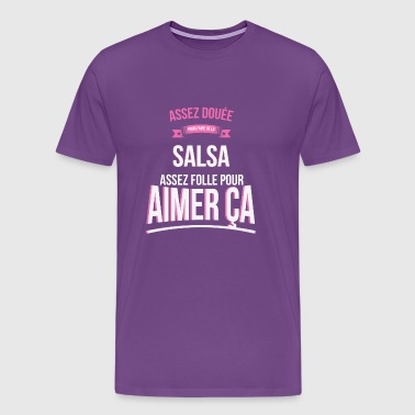 Salsa gifted mad woman gift - Men's Premium T-Shirt