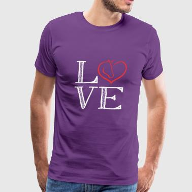 Horse Love loving the horse - Men's Premium T-Shirt