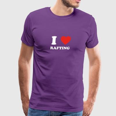 hobby gift birthday i love RAFTING - Men's Premium T-Shirt