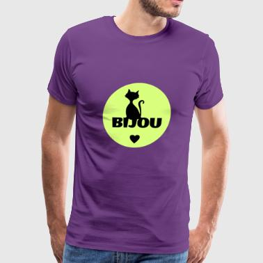 Bijou first name cats name - Men's Premium T-Shirt