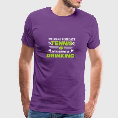 Tennis Shirt Tennis Weekend Forecast Funny Gift - Men's Premium T-Shirt