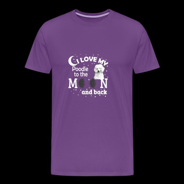 I Love My Poodle - Men's Premium T-Shirt