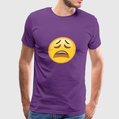Tired Face Emoticon T - Men's Premium T-Shirt