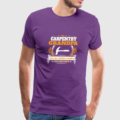 Carpentry Grandpa Shirt Gift Idea - Men's Premium T-Shirt