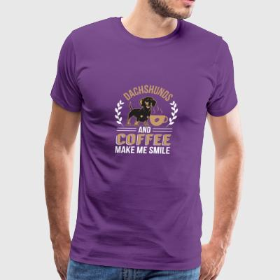 Dachshunds And Coffee Make Me Smile - Men's Premium T-Shirt