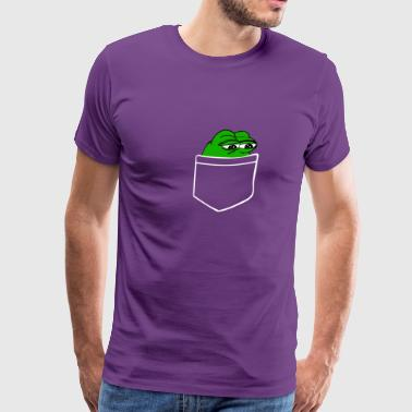 Pepe Frog Pocket - Men's Premium T-Shirt