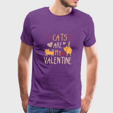 My Cats Are My Valentine Funny Shirt Idea - Men's Premium T-Shirt