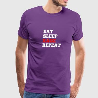 eatsleep rage - Men's Premium T-Shirt