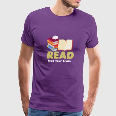 Reading Shirt For Book Lover. - Men's Premium T-Shirt