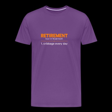 Retired T-Shirt. Awesome Costume For Grandma/Grand - Men's Premium T-Shirt