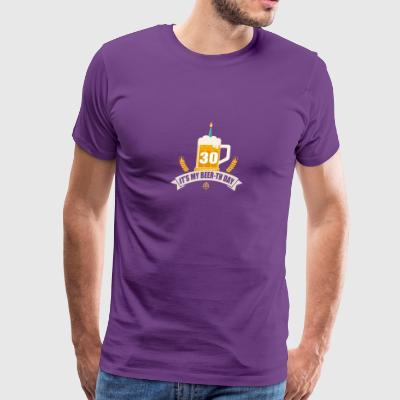 It s My Beer th Day 30 Years Old - Men's Premium T-Shirt