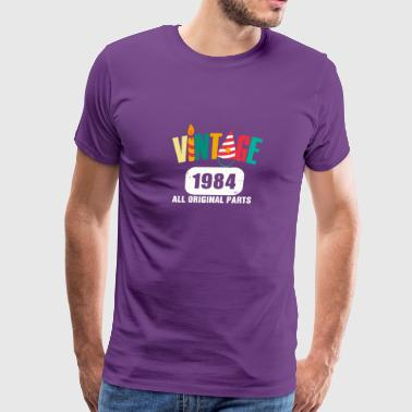 Vintage 1984 All Original Parts - Men's Premium T-Shirt