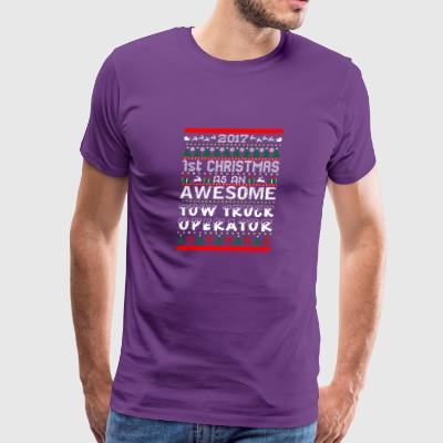 2017 1st Christmas Awesome Tow Truck Driver - Men's Premium T-Shirt
