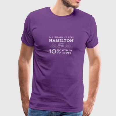 My Brain is 90% Hamilton Vintage T-Shirt from the - Men's Premium T-Shirt