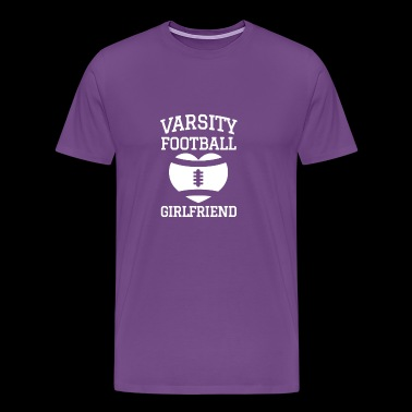 varsity football girlfriend - Men's Premium T-Shirt