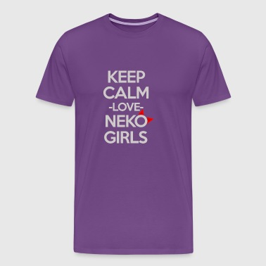 New Design Keep Calm Love Neko GIrls Best Seller - Men's Premium T-Shirt